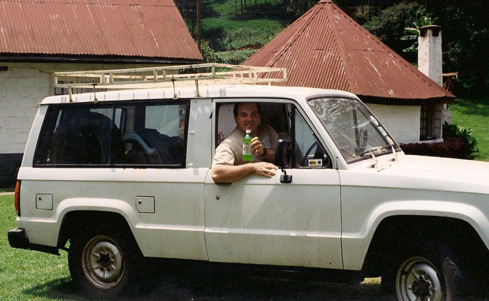 Rich in our rented 1988 Isuzu Trooper